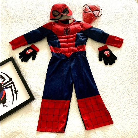 Bundled 3T-4T muscled 🕷SPIDER-MAN COSTUME